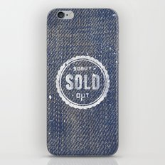Blue Denim Jeans Texture Cool Fashion Fabric Print iPhone & iPod Skin