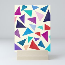 Colorful geometric pattern Mini Art Print