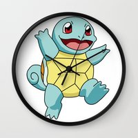 squirtle Wall Clocks featuring Squirtle by dada