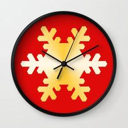 Gold Snowflake Wall Clock