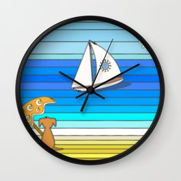 Another Day in Paradise Wall Clock