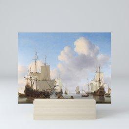 Vintage Ship Oil Painting Mini Art Print