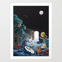 wonderland Art Prints featuring Wonderland by Robert Richter – Artist & Illustrator
