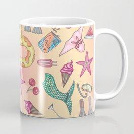Cute Summer Beach and Poolside Illustrations Coffee Mug