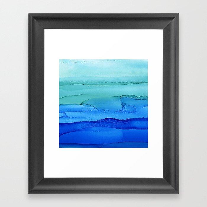 Alcohol Ink Seascape Gerahmter Kunstdruck