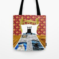 duvet cover Tote Bags featuring Duvet Cover by Andrew Hitchen