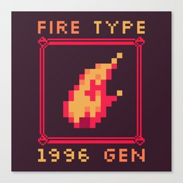 Fire Type Canvas Print