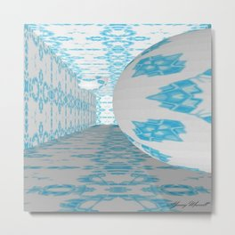 3D Blue 1 Metal Print