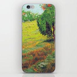 Vincent van Gogh Garden with Weeping Willow iPhone Skin