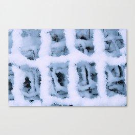 Snow Pattern Canvas Print