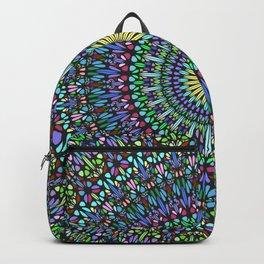 Colorful Floral Gravel Garden Mandala Backpack