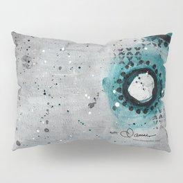 Charcoal Circles Right Pillow Sham
