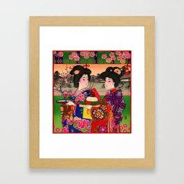 Two Geishas Framed Art Print