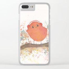 Birds in Music Clear iPhone Case