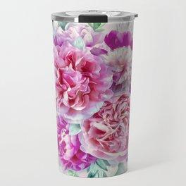 Beautiful soft pink peonies Travel Mug