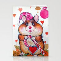 hamster Stationery Cards featuring HAMSTER by oxana zaika