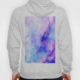 Hand painted blush pink teal blue watercolor brushstrokes Hoody
