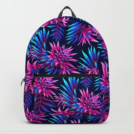 Aechmea Fasciata - Dark Blue/Pink Backpack