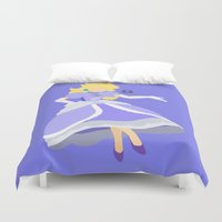 princess peach Duvet Covers featuring Princess Peach(Smash)Blue by samaran