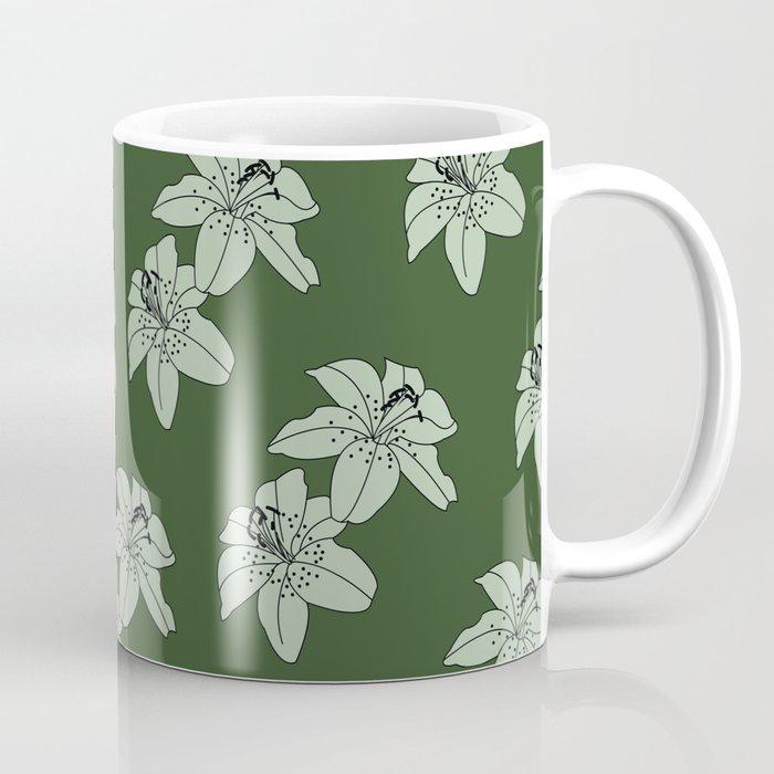 Lily The Tiger - Green Coffee Mug
