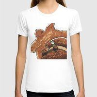 rug T-shirts featuring Bear rug  by Felicity Du