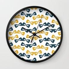 Zany Du Bow Tie Pattern Wall Clock