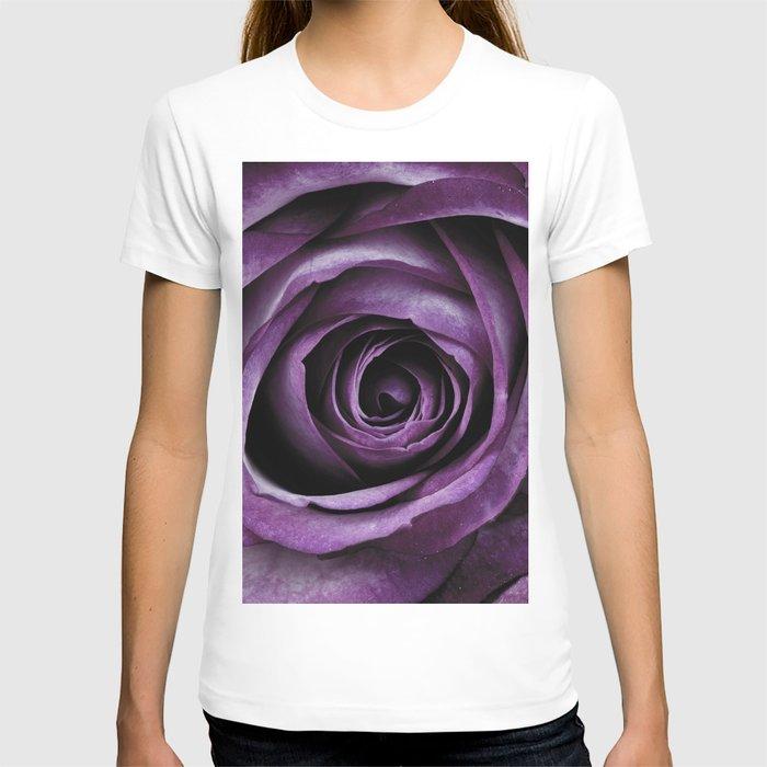 Purple Rose Decorative Flower T-shirt