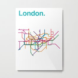 London Transit Map Metal Print