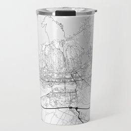 Minimal City Maps - Map of Zagreb Travel Mug
