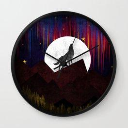 Wolf XOX Wall Clock