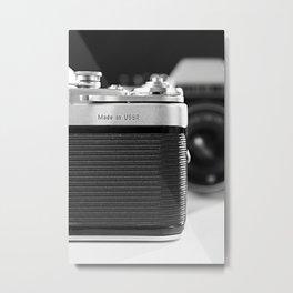 Fragment of old Soviet photo camera Metal Print