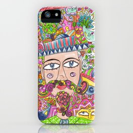 Man and his hat iPhone Case