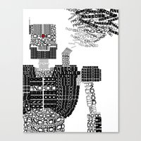 android Canvas Prints featuring ANDROID by Andrew Sebastian Kwan