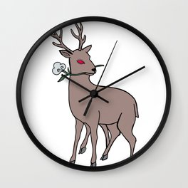 Into the cotton fields Wall Clock
