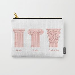 Columns - Rose Carry-All Pouch