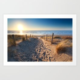 Path to North sea Art Print