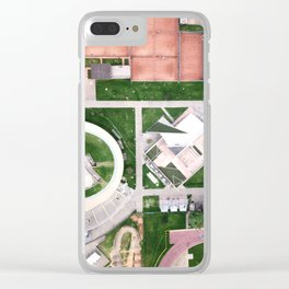 Aerial Geometry Clear iPhone Case