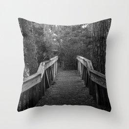 Burn a Bridge Throw Pillow
