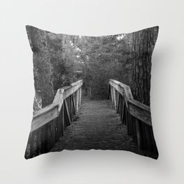 Burn a Bridge Throw Pillow
