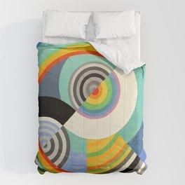 Robert Delaunay - Rythme no 3 - Rhythm no 3 - Abstract Colorful Art Comforters