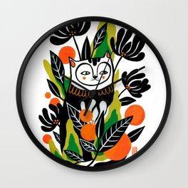 Mossy Cat Wall Clock