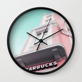 Contemporary Blush Facade Wall Clock