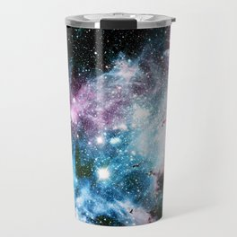 Carina Nebula : Vivid Blue Fuchsia and Red Travel Mug