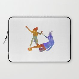 Women soccer players 02 in watercolor Laptop Sleeve