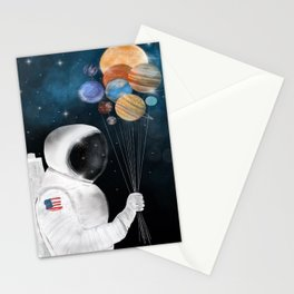 space party Stationery Cards