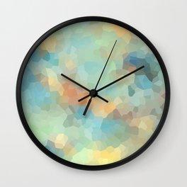 "Colored crystals . ""Sunbeams"" . Wall Clock"