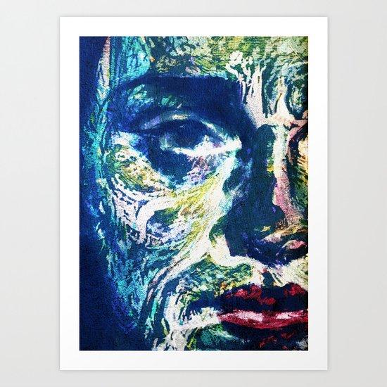 Muddy Water Face Art Print