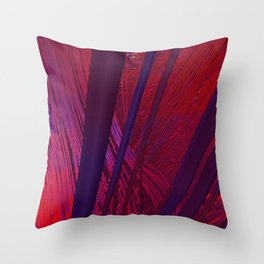 Fibers in Red Throw Pillow