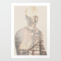 Double Exposure Abstract Portrait Art Print