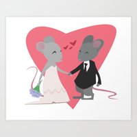 Mousy Love Art Print